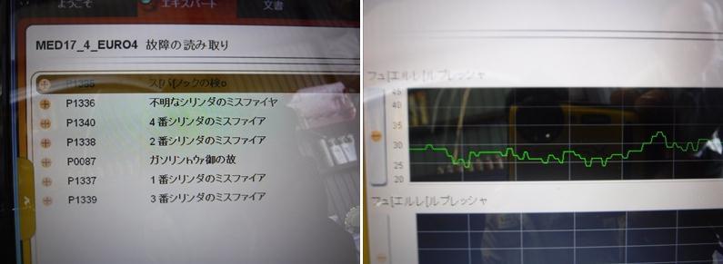 プジョー207GT Depollution system faulty修理 ➡ 高圧ガソリン