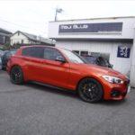 「BMW118i Mスポーツ HIGHSPARK JAPAN®FORGED TITANIUM WHEEL BOLT + TITANIUM LICENCE BOLT取付です。」